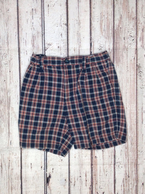 Class Club BLUE & PEACH Checkered Shorts