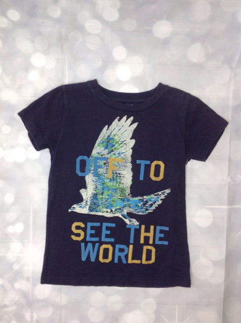 Crew Cuts Navy Print Eagle Top