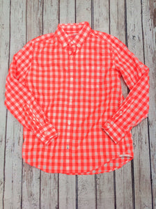 Crew Cuts ORANGE & WHITE Checkered Top