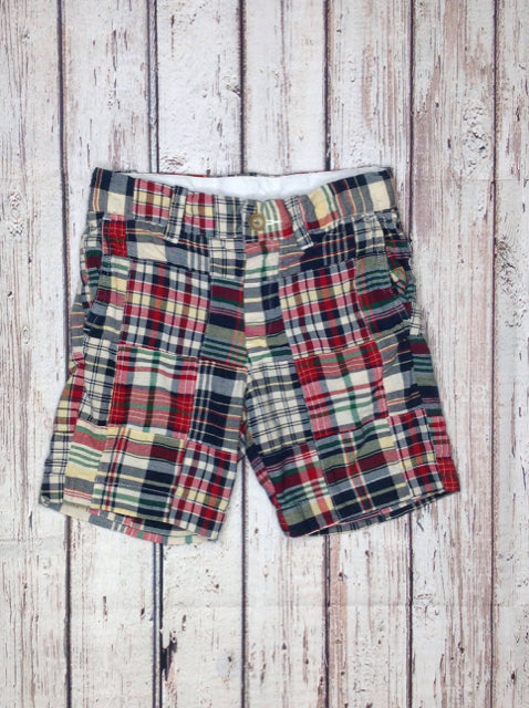 Crew Cuts Red & Blue Plaid Shorts