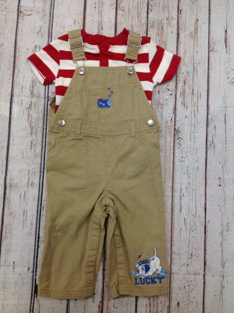 Disney Baby TAN PRINT 2 PC Outfit