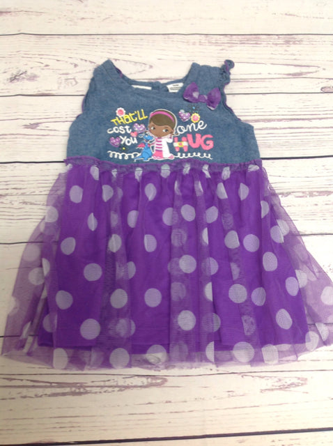 Disney Denim & Purple Dress