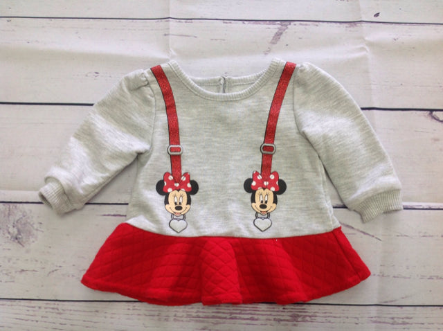 Disney GRAY & RED Top