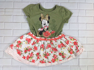 Disney Green Print Minnie Mouse Top