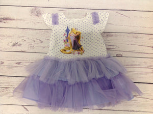 Disney White & Purple Dress