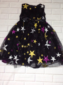 European Brand Black Star Print Dress