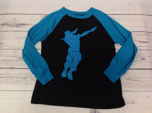 FORTNITE BLUE & BLACK Dance Top