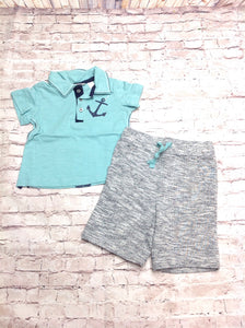 First Impressions AQUA AND GRAY 2 PC Outfit