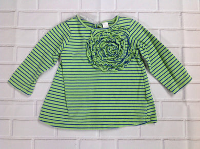 First Impressions Green & Blue Top