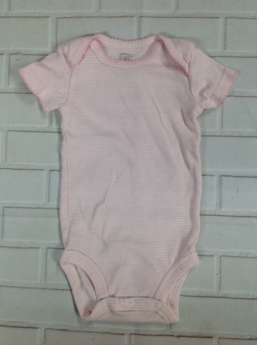 First Moments PINK PRINT Onesie