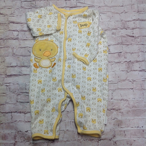 First Moments Yellow & White One Piece