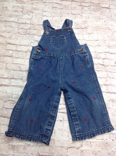 Fisher Price Blue & Red Overalls
