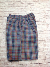 Flapdoodles Blue & Red Plaid Shorts