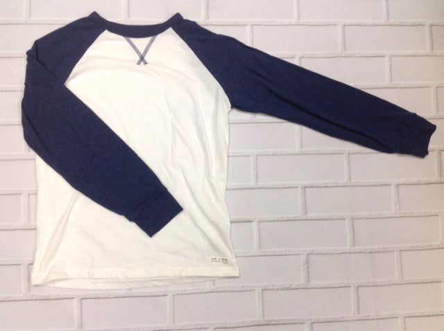 GAP KIDS WHITE & BLUE Solid Top