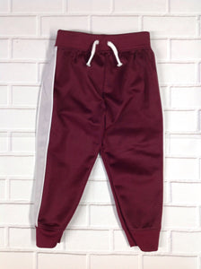 Garanimals Burgundy & Grey Stripe Pants