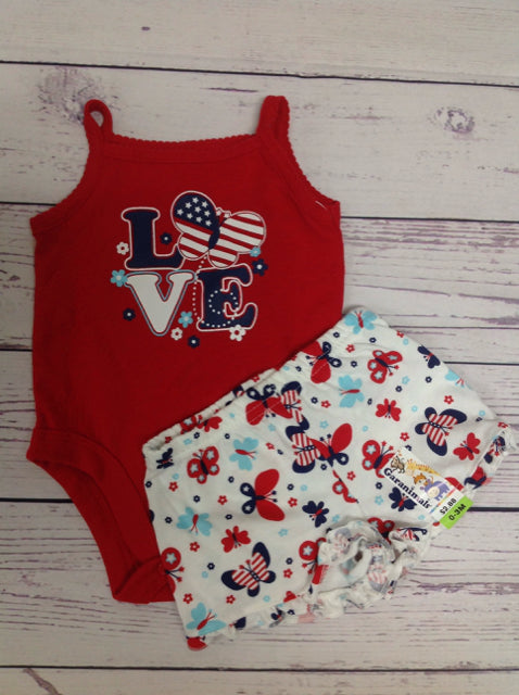 Garanimals Red & White 2 PC Outfit