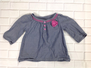 Genuine Kids Denim & Purple Top