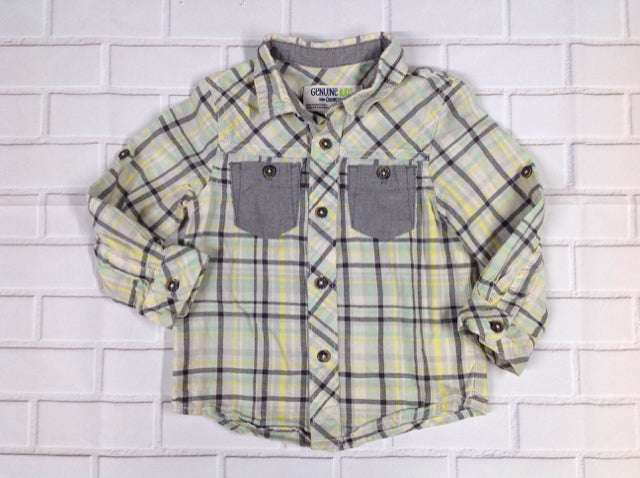 Genuine Kids Gray & Yellow Top