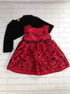George Red & Black Dress