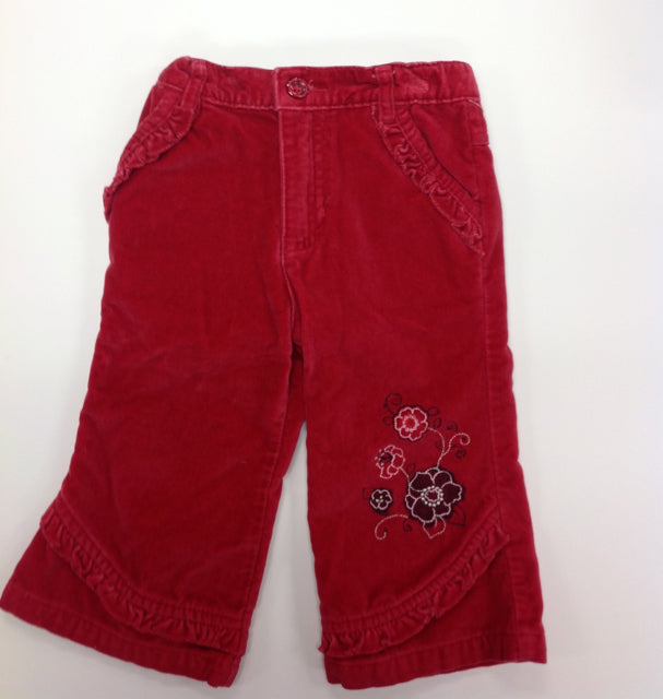 George Red Print Pants