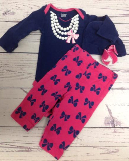 Gerber Pink & Blue 2 PC Outfit