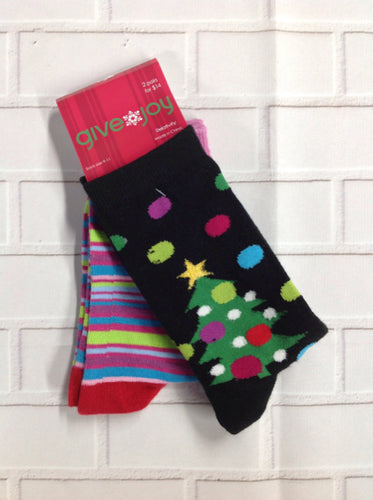 Give Joy Snowmen Socks