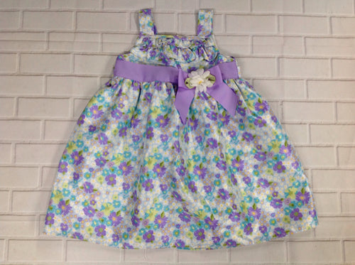 Goodlad Purple Print Floral Dress