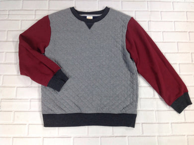 Gymboree GRAY & MAROON Quilted Top