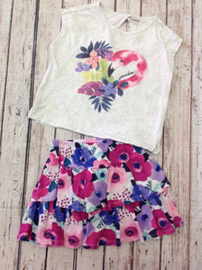 Gymboree GRAY PRINT 2 pc Set