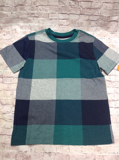 Gymboree Green & Blue Plaid Top