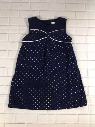 Gymboree Navy Print Polka Dots Dress