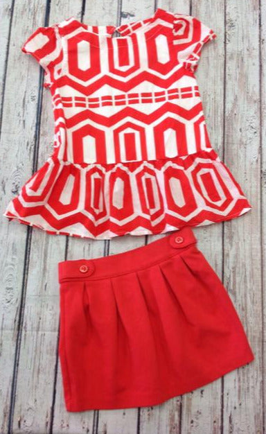 Gymboree ORANGE & WHITE 2 PC