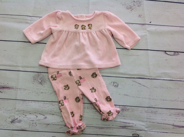 Gymboree PINK & BROWN 2 PC Outfit