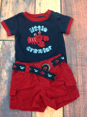 Gymboree Red & Blue 2 PC Outfit