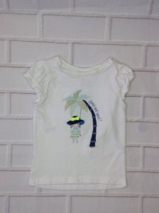 Gymboree White Print Top