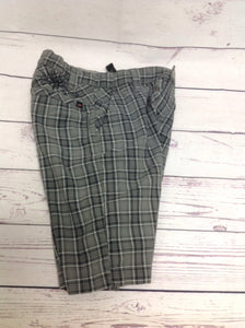 HAWK GRAY PRINT Plaid Shorts