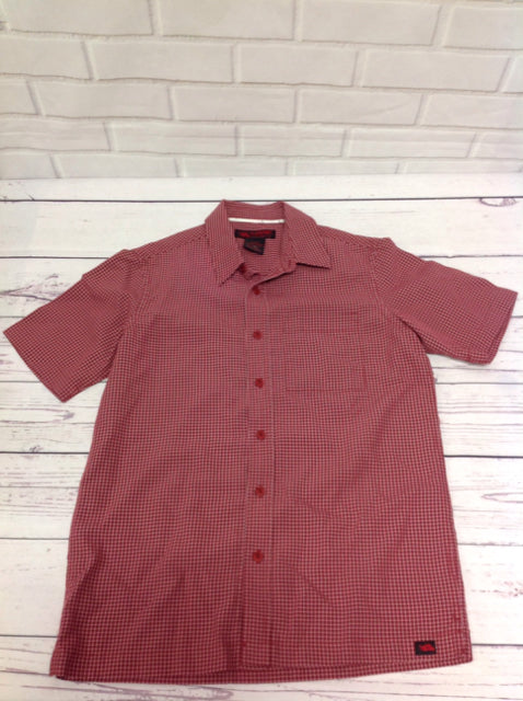 HAWK Red Print Checkered Top