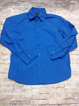 HOLIDAY EDITIONS Blue BUTTON UP Top