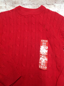 Izod Red Solid Sweater