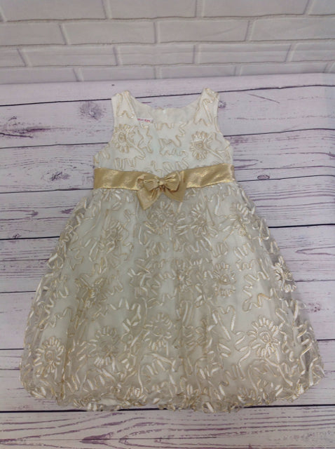 JESSICA ANN Cream & Gold Dress