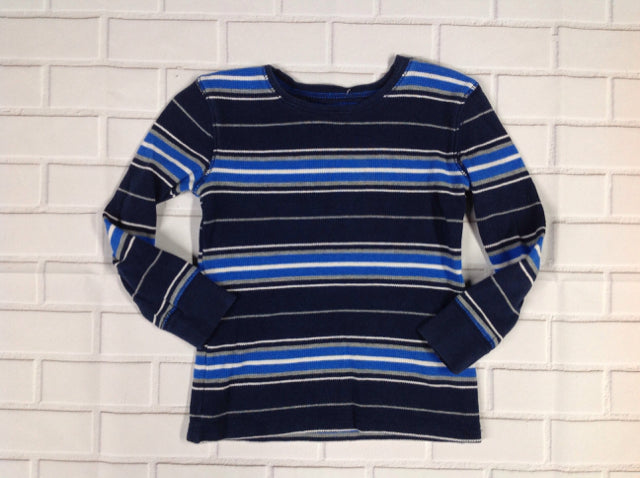 JUMPING BEANS Blue & White Stripe Top