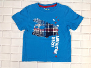 JUMPING BEANS Blue Print Top