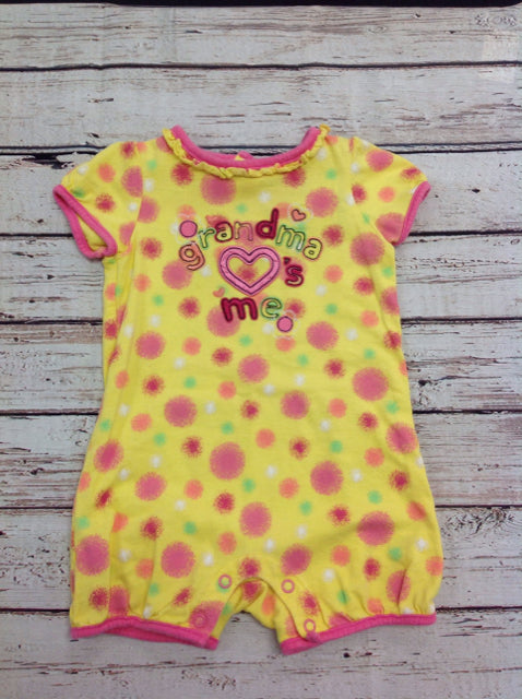 JUMPING BEANS Yellow Print One Piece