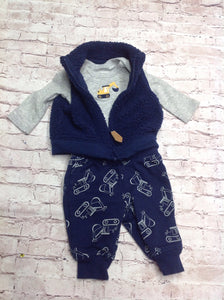 JUST ONE YOU BLUE & GRAY 3 PC Outfit