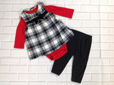 JUST ONE YOU Black & Red 3 PC Outfit