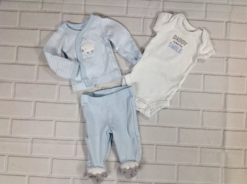JUST ONE YOU Blue Print 3 PC Outfit