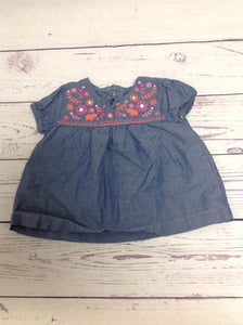 JUST ONE YOU Denim Print Top