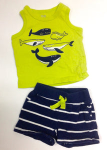 JUST ONE YOU GREEN & NAVY 2 PC Outfit