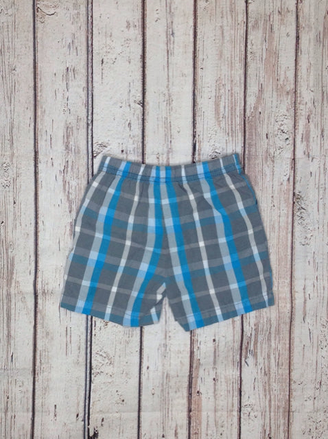 JUST ONE YOU Gray & Blue Plaid Shorts