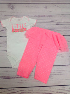 JUST ONE YOU Pink & White 2 PC Outfit